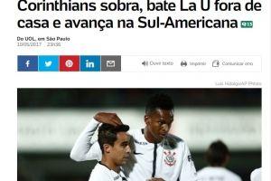 UOL destacó la superioridad de Corinthians