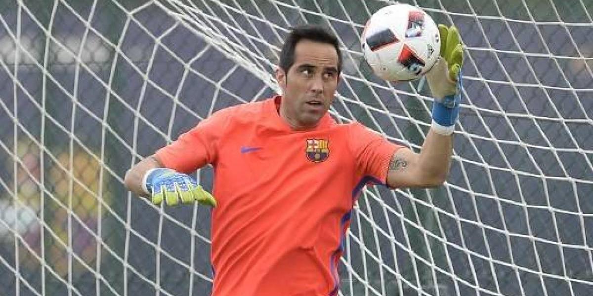 """Barcelona no olvida a Bravo y le deseó """"una rápida y total recuperación"""""""