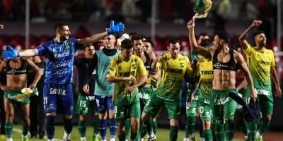Defensa y Justicia (Argentina). Igualó 1-1 en el global ante Sao Paulo (Brasil) en primera ronda, pero se vio favorecido por el gol de visita / AFP