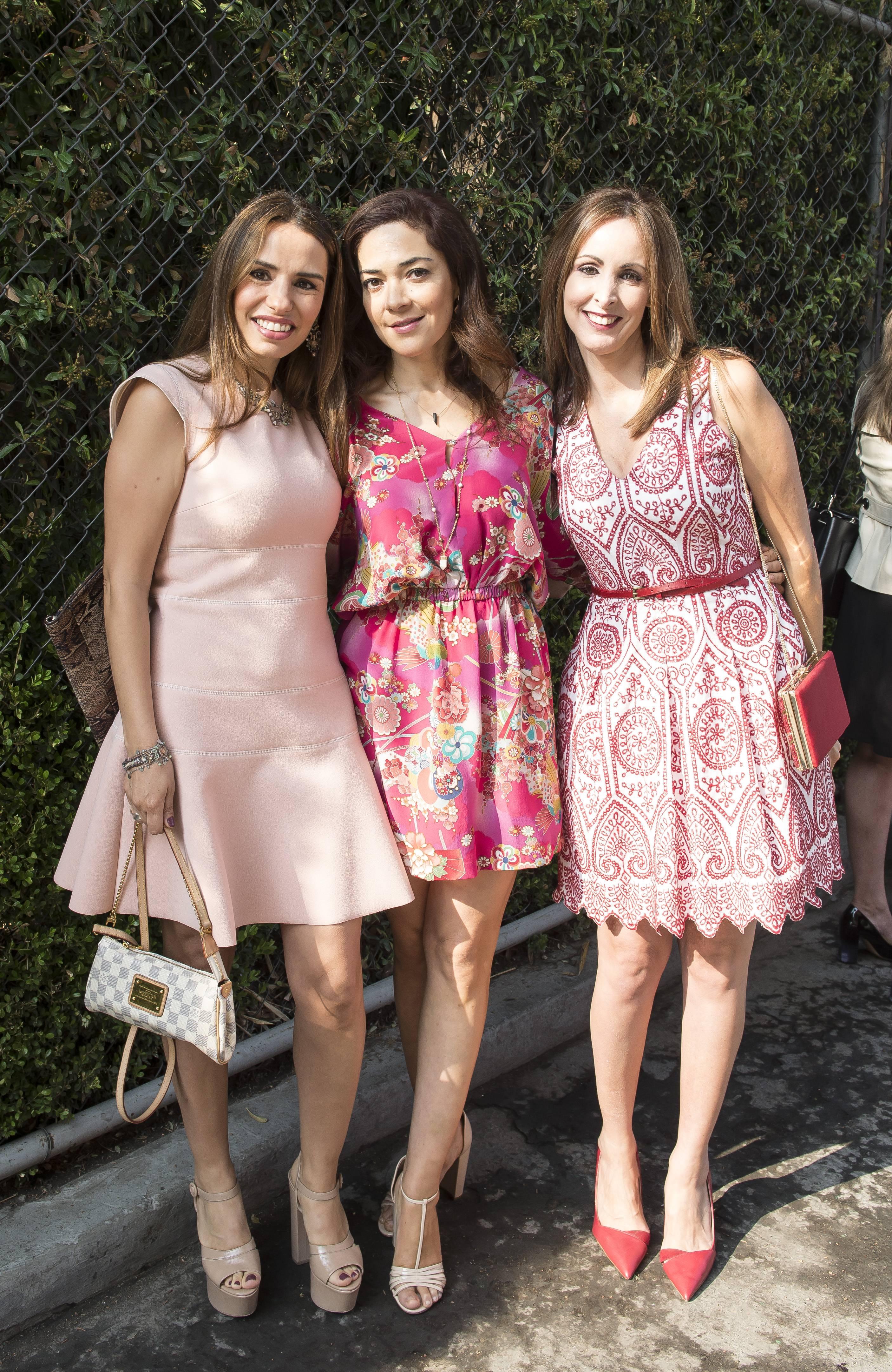 Mariana Castillo, Lissette Araiza y Alexandra Peláez disfrutaron del festejo. JDS