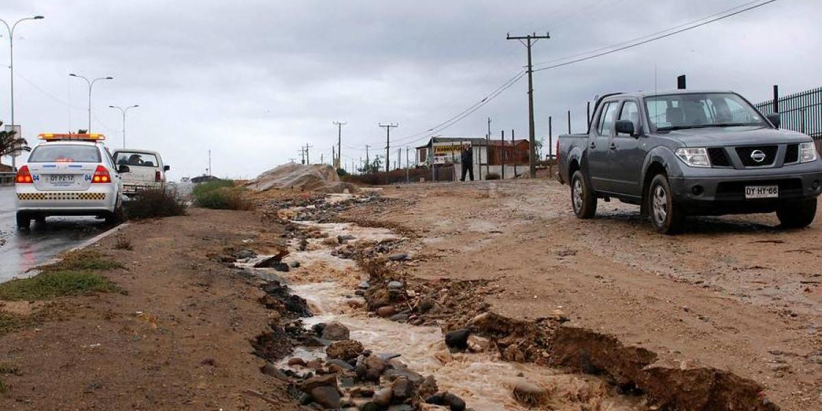 Sistema frontal deja más de 200 damnificados entre las regiones de Atacama y O'Higgins