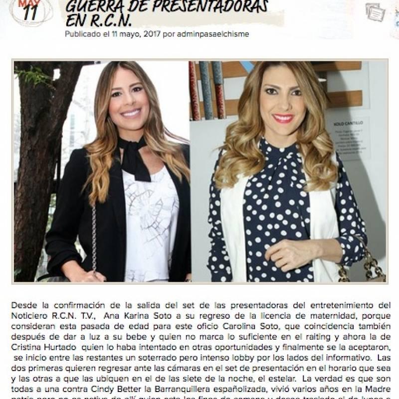 Cristina Hurtado renunció al Canal RCN