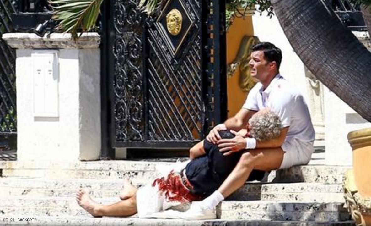 Imágenes de Ricky Martin durante las grabaciones de