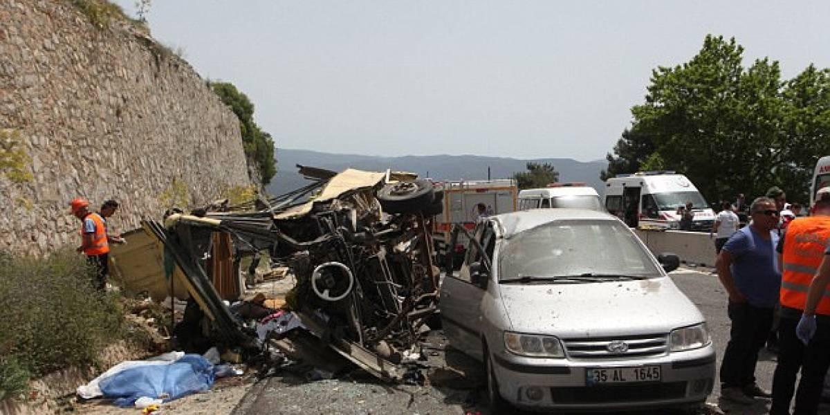 Accidente de autobús en Turquía deja 24 muertos