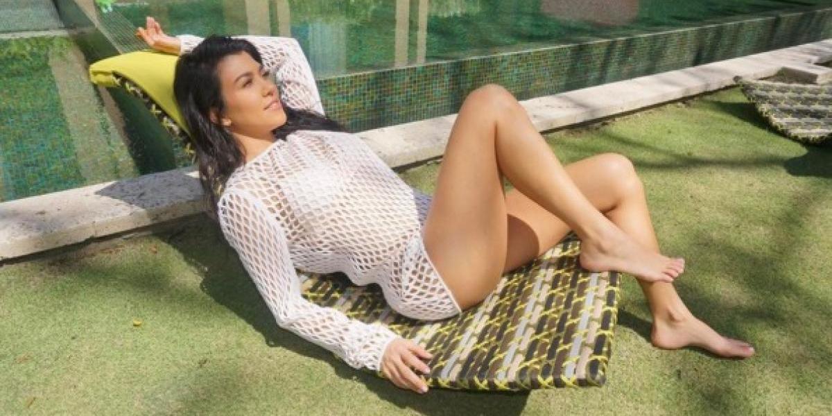 Kourtney Kardashian deslumbra en una sesión de fotos sin nada de ropa