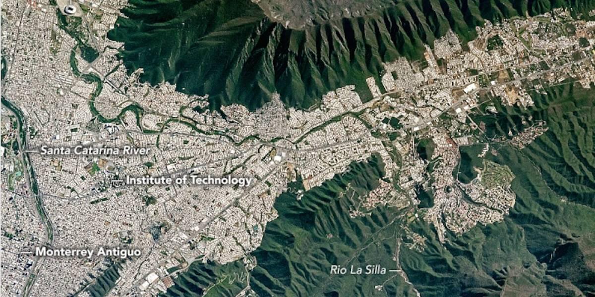 NASA difunde foto de Monterrey desde el espacio