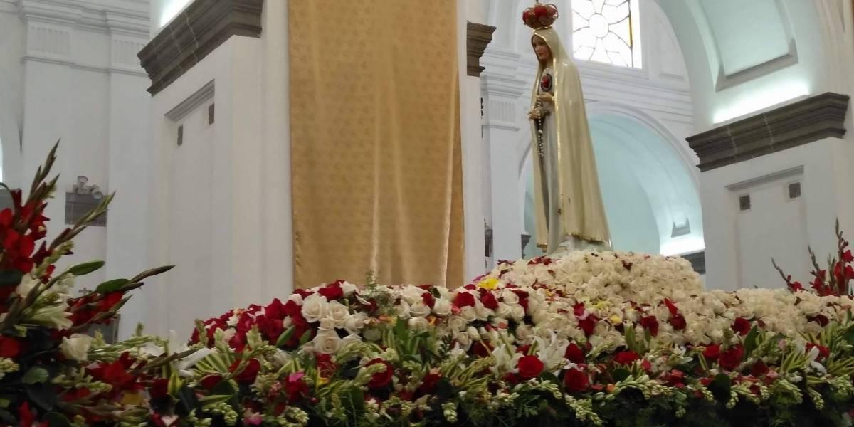 EN IMÁGENES. Fieles guatemaltecos celebran los 100 años de la Virgen de Fátima