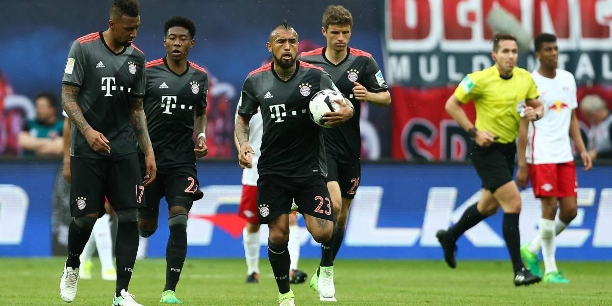 Arturo Vidal encabezó la épica remontada del Bayern ante el Leipzig