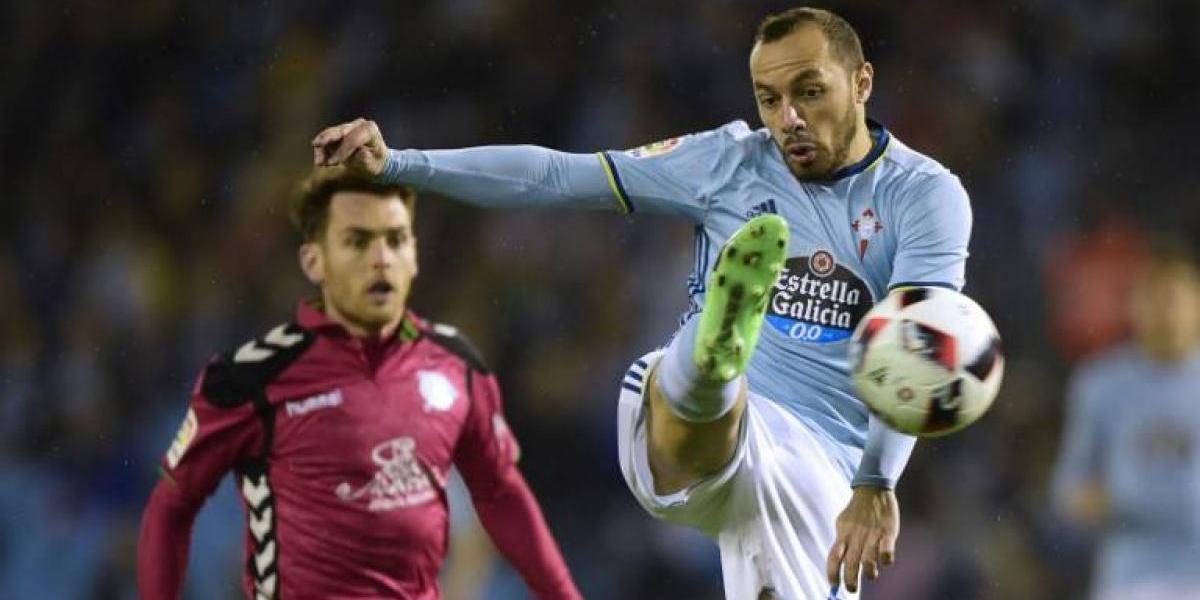 Marcelo Díaz sufrió fuerte golpe y fue reemplazado en derrota del Celta de Vigo