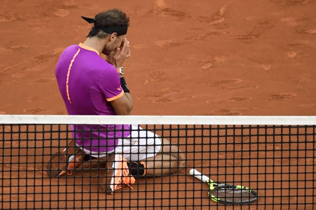 Rafael Nadal festejó un título más y lo hizo ante su público. AFP