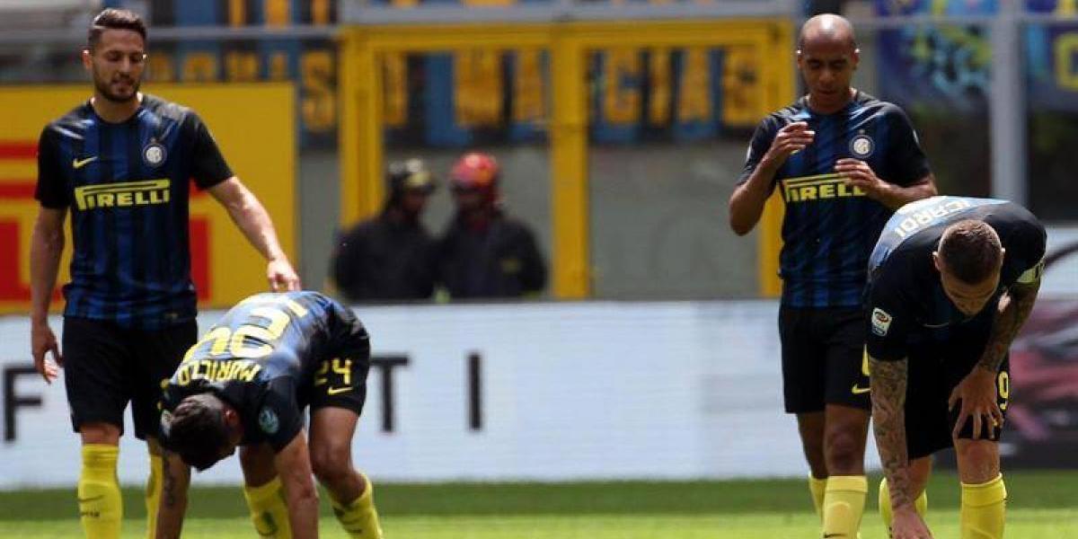 El Inter de Medel agranda su crisis al caer en casa ante el modesto Sassuolo