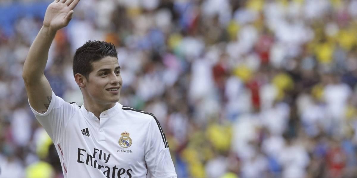 James Rodríguez salió en medio de aplausos en el que sería su último partido con el Real Madrid