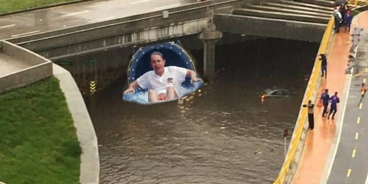 Los memes que dejó la inundación del Deprimido de la 94