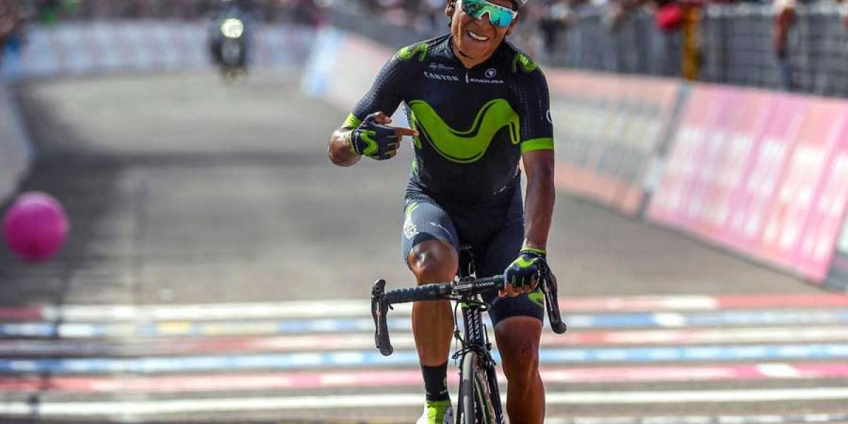 Nairo Quintana gana novena etapa del Giro de Italia y la camiseta de líder