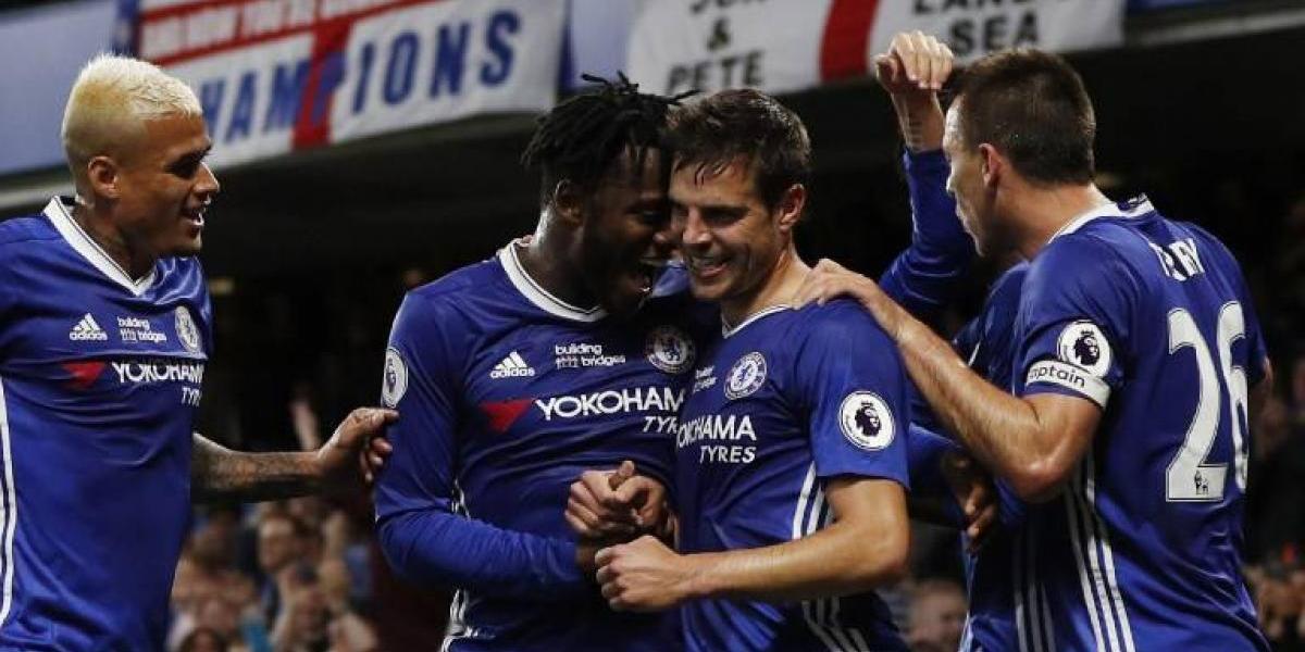 Chelsea festejó el título de la Premier con un festival de goles