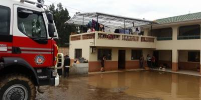 Operativo ante crecida de los ríos de Azuay y Cañar