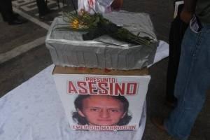 Representación drama asesinato en Plaza de la Constitución