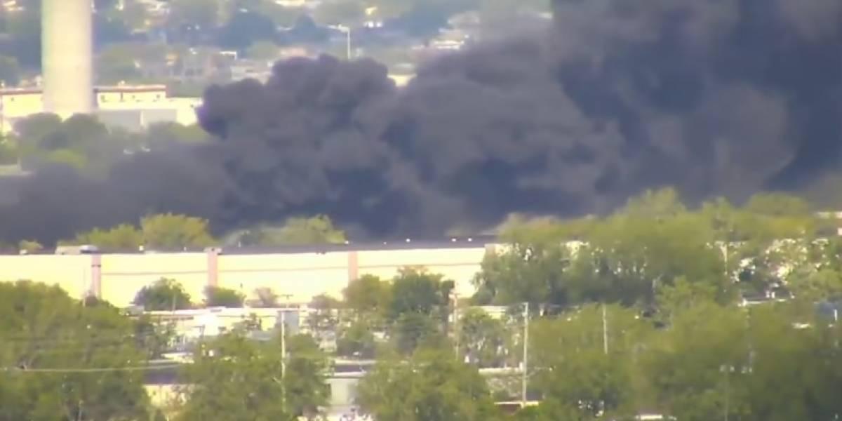 Videos: Avioneta se estrelló en Nueva Jersey