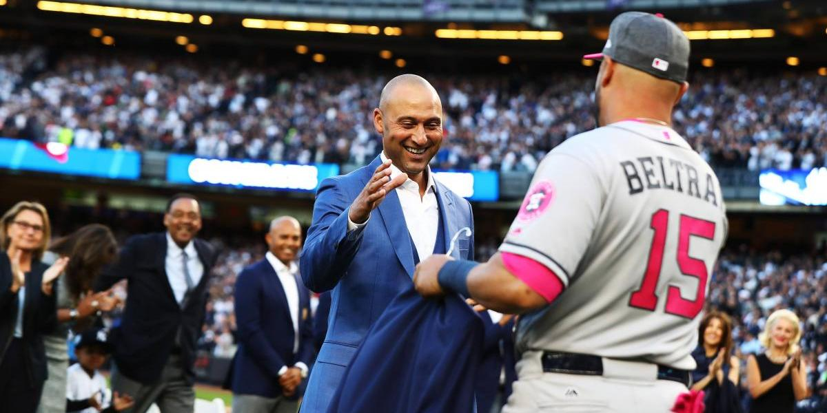 Entrega de chaqueta a Derek Jeter fue idea de Carlos Beltrán