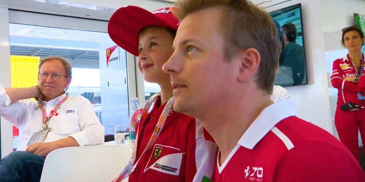 La historia del niño que lloró y rio con Raikkonen y Ferrari