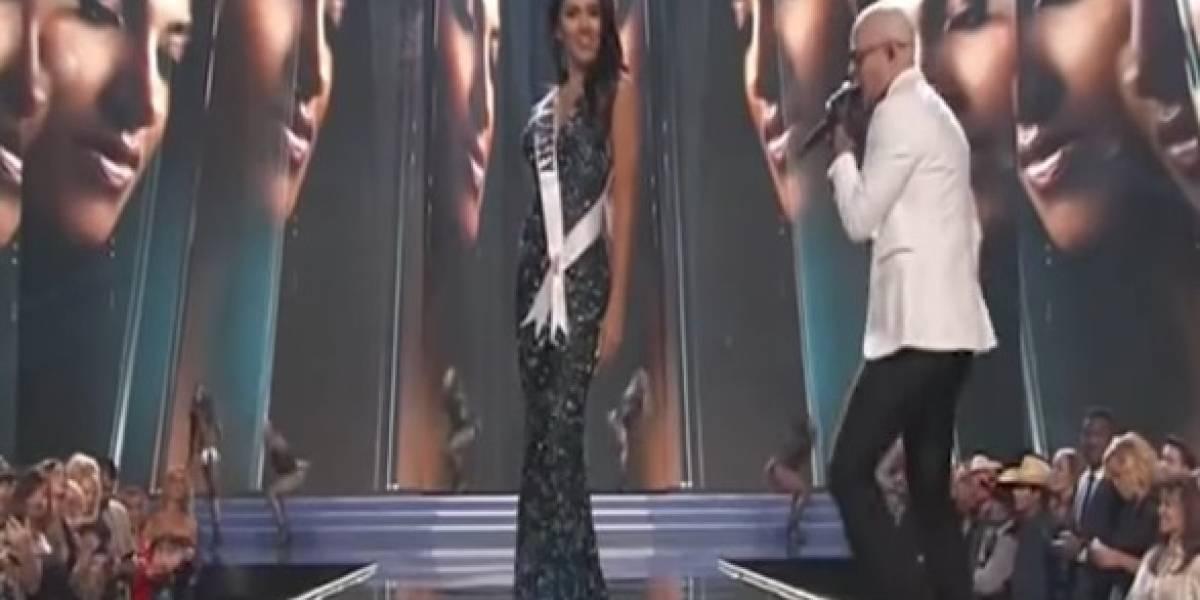 Así Pitbull encendió Miss USA 2017