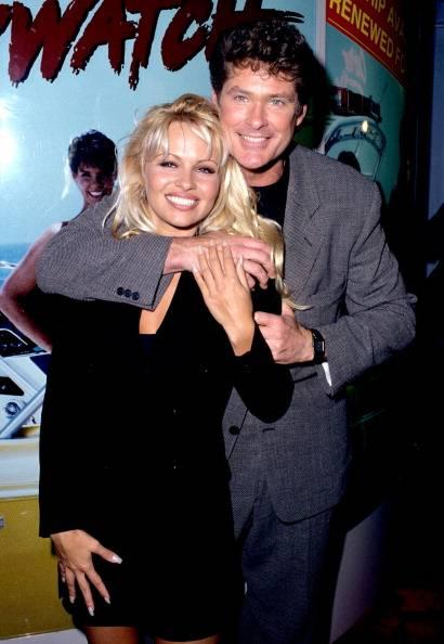 David Hasselhoff y Pamela Anderson