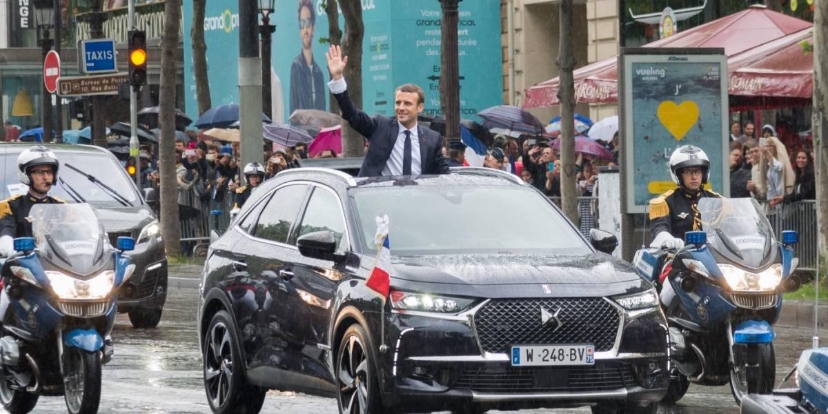 Un descapotable es el nuevo auto presidencial de Francia