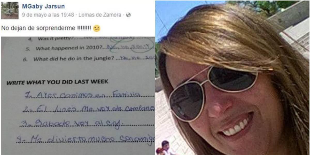 Maestra se burla en Facebook de las respuestas de alumna