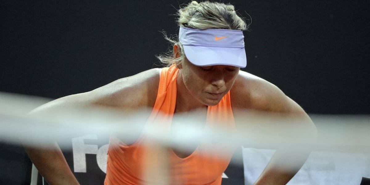 Maria Sharapova se retira del torneo de Roma por lesión