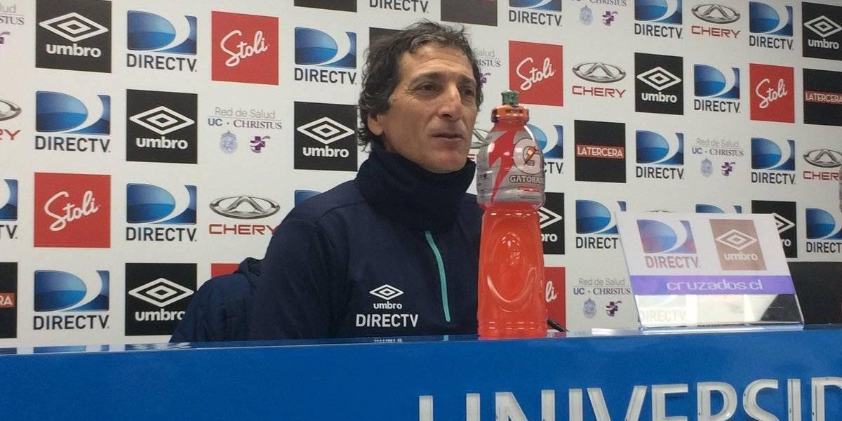 """Salas centra a la UC en ganarle a Atlético Paranaense: """"Tenemos que preocuparnos de nosotros"""""""
