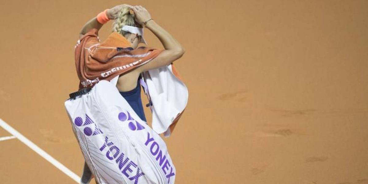 La número uno del mundo quedó eliminada en la segunda ronda del WTA de Roma