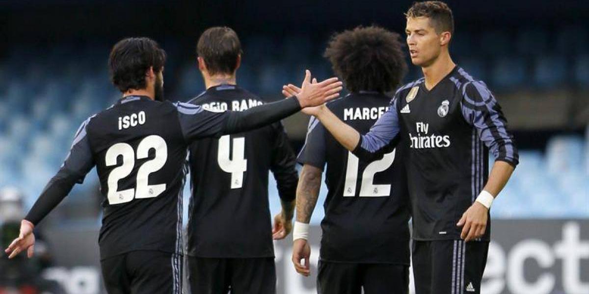 Real Madrid goleó al Celta de los chilenos y es casi campeón de la Liga española