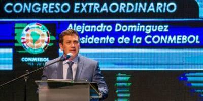 Domínguez destaca transparencia, orden y tecnología en la nueva Conmebol