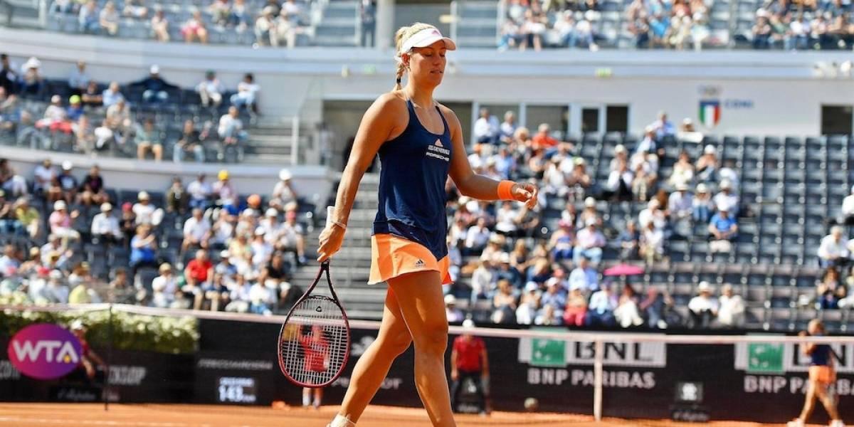 Sorprenden y eliminan a la número uno del mundo Angelique Kerber en su debut en Roma