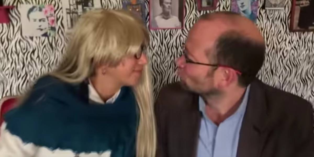 El beso entre Claudia López y Daniel Samper que se volvió viral