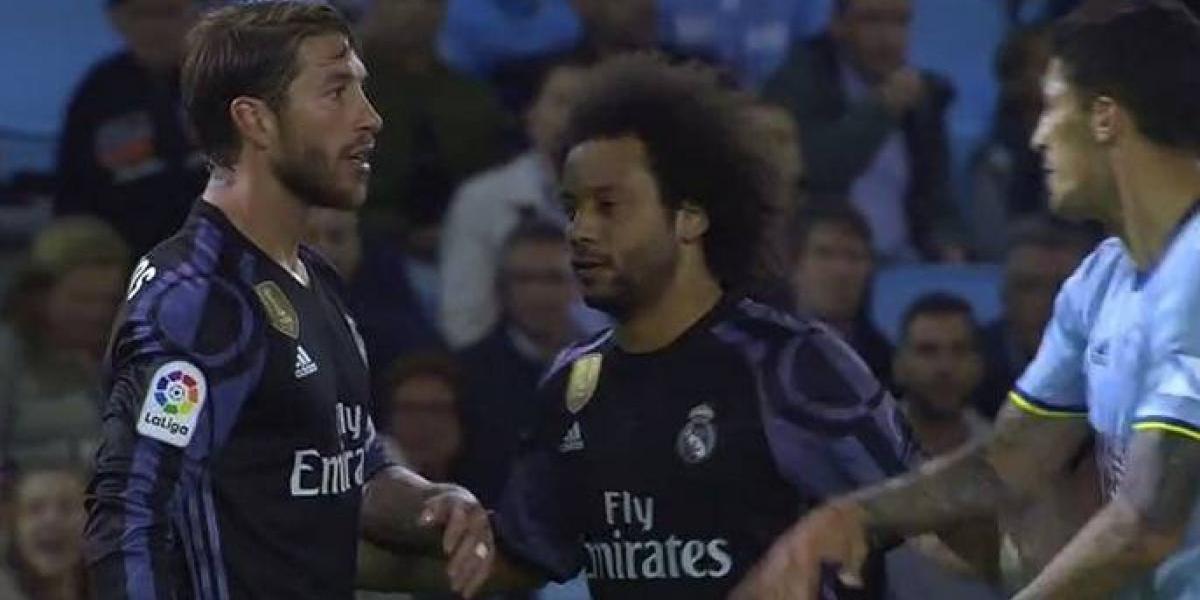 Caliente jornada del Tucu Hernández ante Real Madrid: encaró a Sergio Ramos y habría insultado al árbitro
