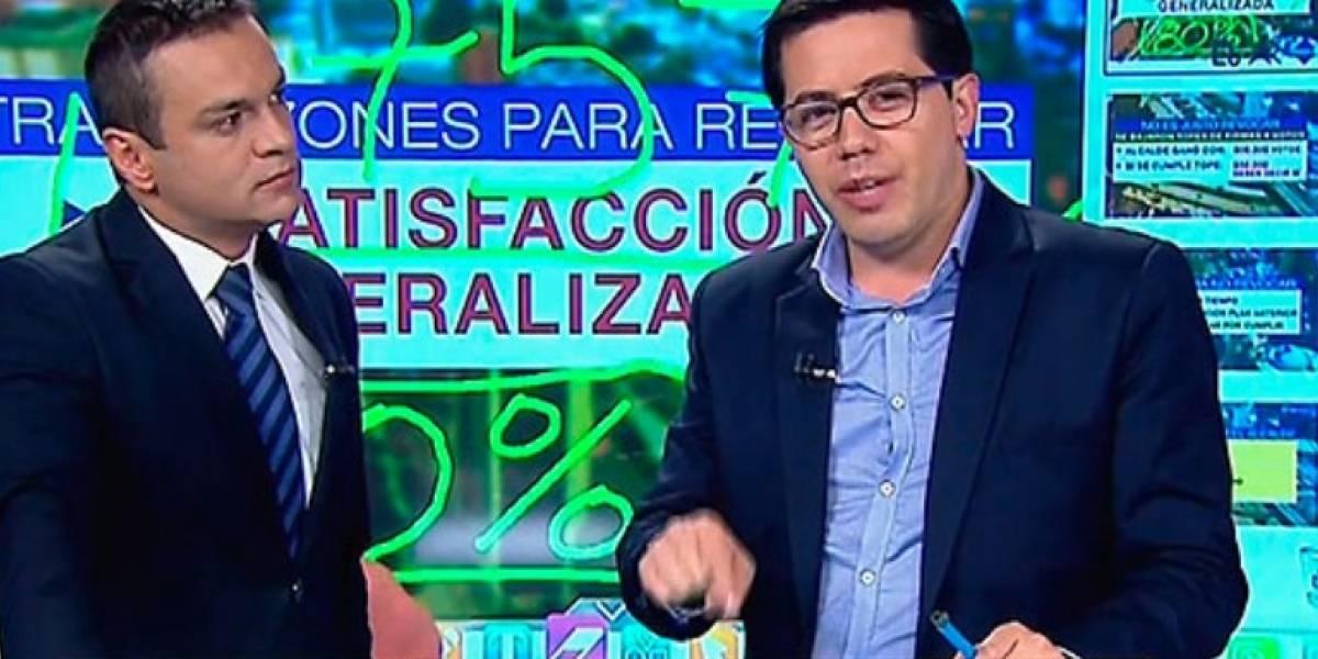 Video: Así fue la pelea al aire de Juan Diego Alvira con invitado que hablaba de la revocatoria de Peñalosa
