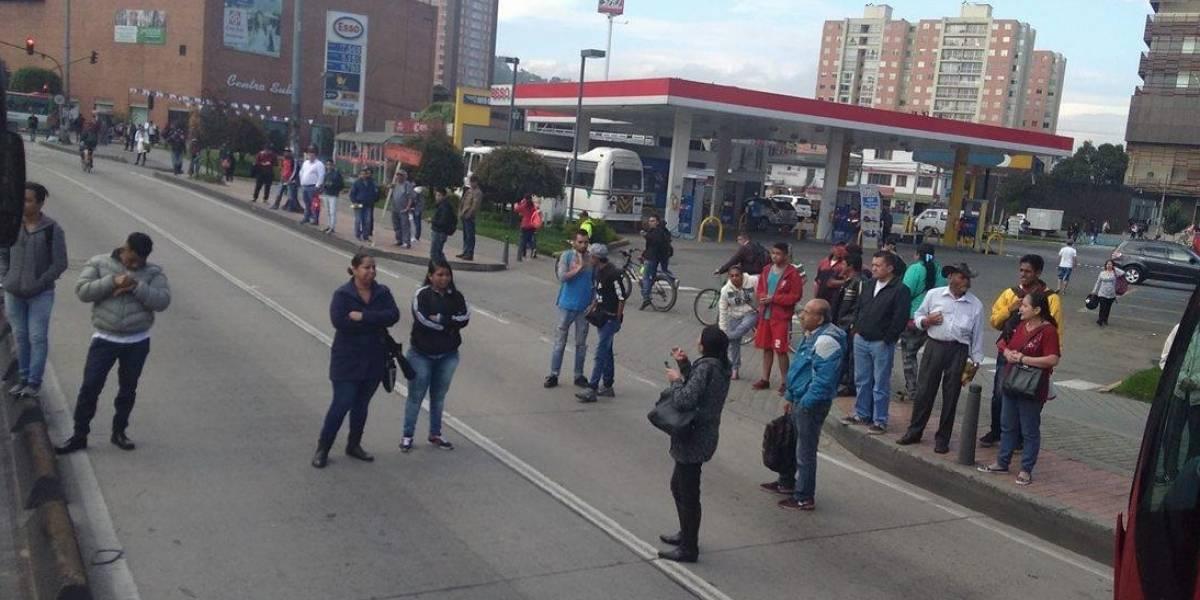 ¡Atención! Caos y bloqueos en el sistema masivo de transporte TransMilenio