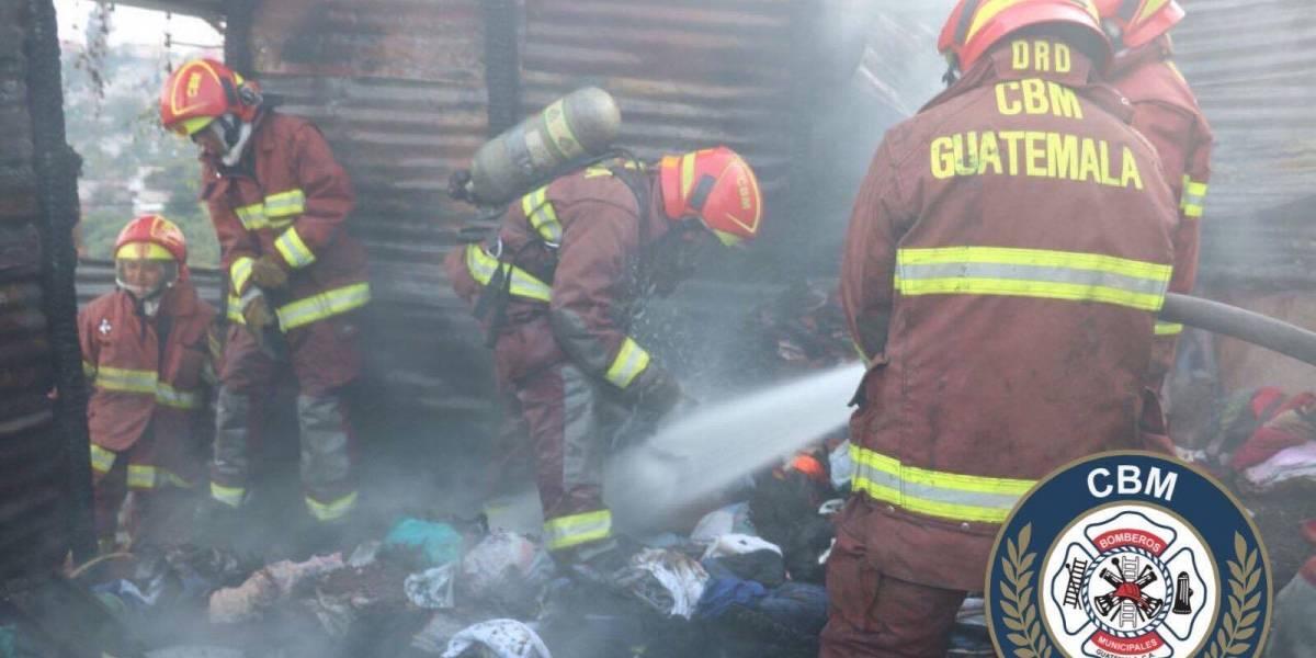 Persona fallece calcinada en incendio registrado en Villa Nueva