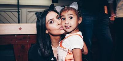 La pequeña hija de Kim Kardashian contra los paparazzi