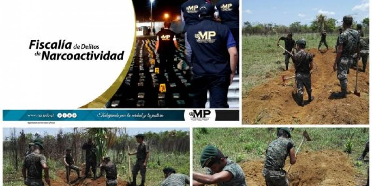 Ministerio Público destruye pista de aterrizaje clandestina en Petén