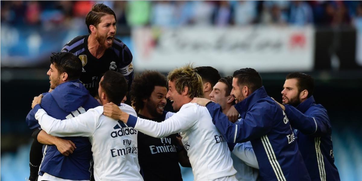 El Real Madrid golea y está a un punto del título de Liga