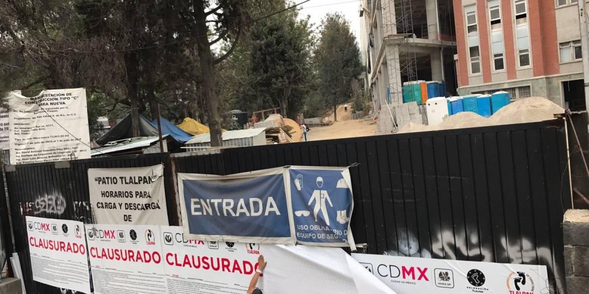 Suspenden obra de plaza comercial Patio Tlalpan