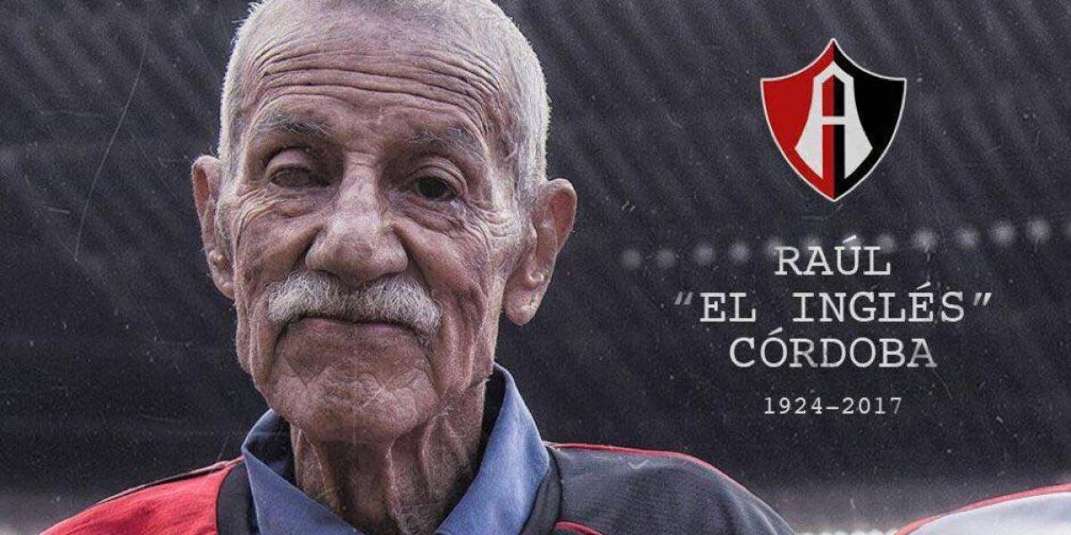 """Murió """"El Inglés"""" Córdoba, portero campeón con Atlas en 1951"""