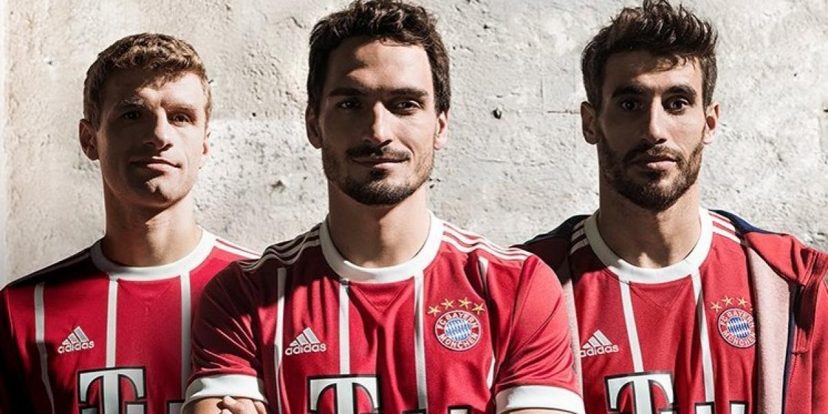 """El Bayern de Arturo Vidal presenta su nueva camiseta """"retro"""""""