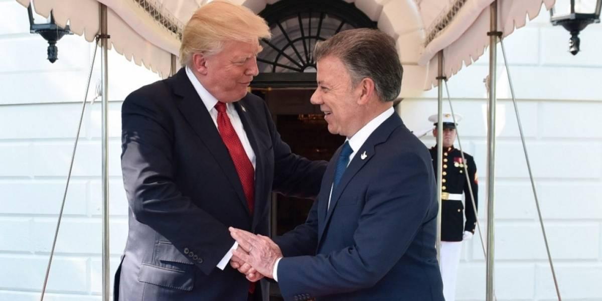 ¡Al fin! Santos se reunió con Trump que apoya la paz