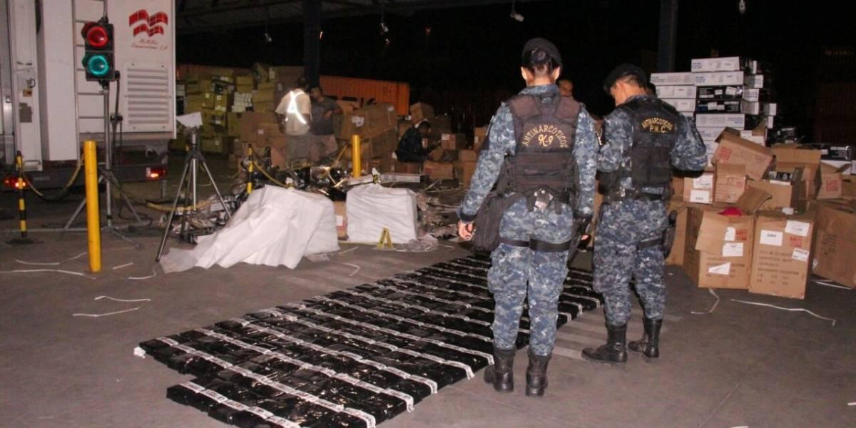 Decomisan 405 paquetes de cocaína localizados en contenedor proveniente de Panamá
