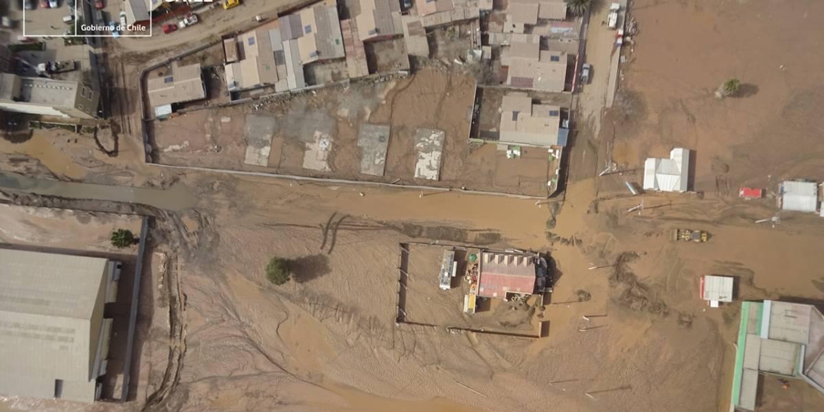 Chañaral: Imágenes aéreas muestran intensidad de aluvión
