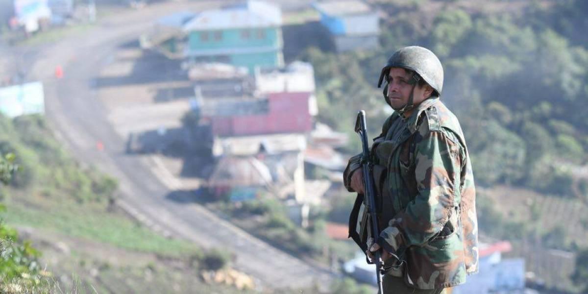 EN IMÁGENES. Presencia de militares y policías en Ixchiguán y Tajumulco por Estado de Sitio