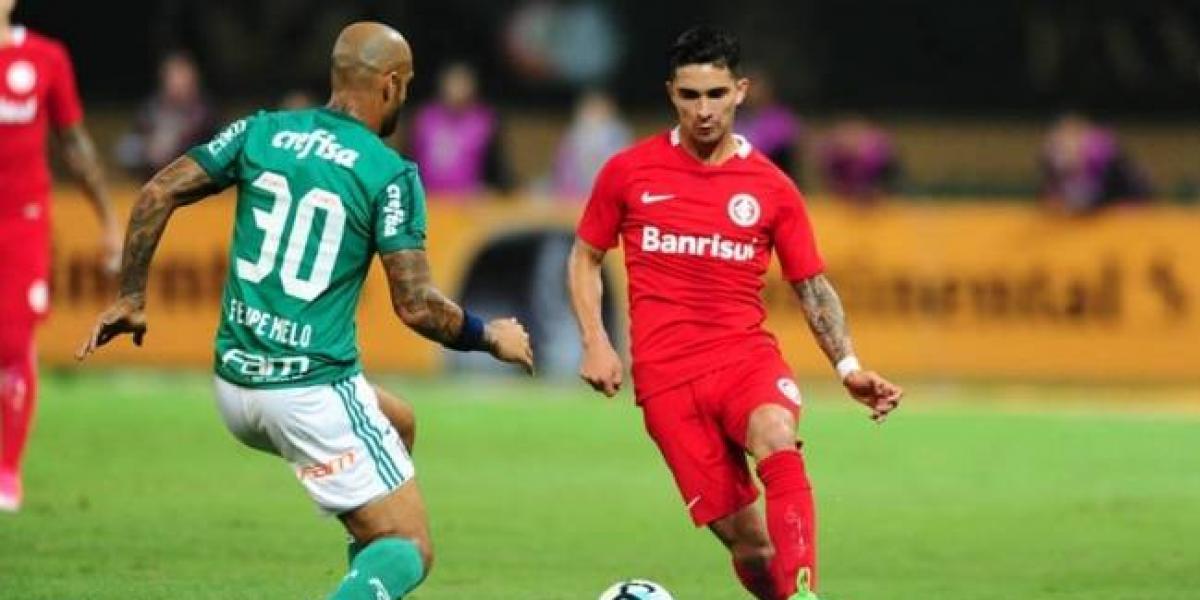 Inter de Felipe Gutiérrez fue eliminado de la Copa Brasil a manos de Palmeiras